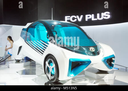 Greater Noida, India. 14th February 2018. Toyota FCV Plus car is on display at Auto Expo 2018 in Greater Noida, - Stock Image