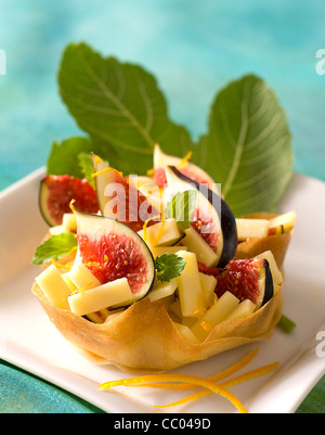 Cheese and Figs Little Pies - Stock Image