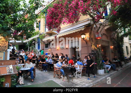 Bars restaurants in Plaka, Athens: Melina Merkouri Cafe - Stock Image
