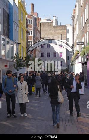 Carnaby Street Soho London - Stock Image
