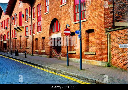 Dock street, Leeds, England - Stock Image