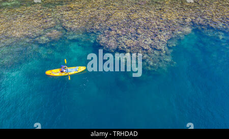 Kayaking in Fjords near Tufi, Cape Nelson, Papua New Guinea - Stock Image