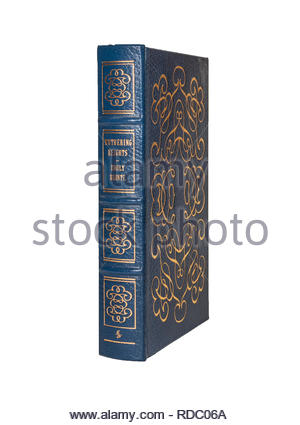 The Easton Press leather-bound edition of Wuthering Heights, by Emily Bronte.  Isolated on white background. - Stock Image