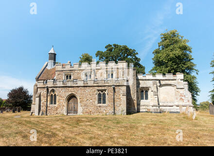 All Saints Church, Eyeworth, Bedfordshire, England, whose current building dates back to the fourteenth century and is partly constructed from Tottern - Stock Image