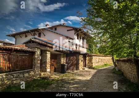 Arbanassi, Veliko Tarnovo, Bulgaria. Traditional bulgarian house in Arbanasi - Stock Image