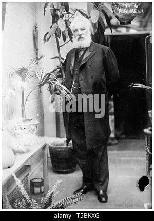 Alexander Graham Bell (1847-1922), full length portrait, c. 1900-22 - Stock Image