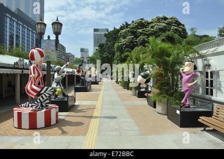 Hong Kong Avenue of Comic Stars, Kowloon Park, Tsim Sha Tsui, Hong Kong, China - Stock Image