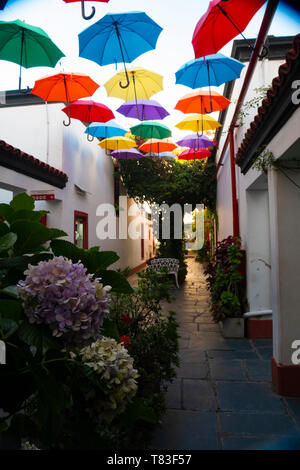'Solar de French' Gallery in San Telmo, Buenos Aires, Argentina, where the patriot of the May Revolution Domingo French was born. - Stock Image