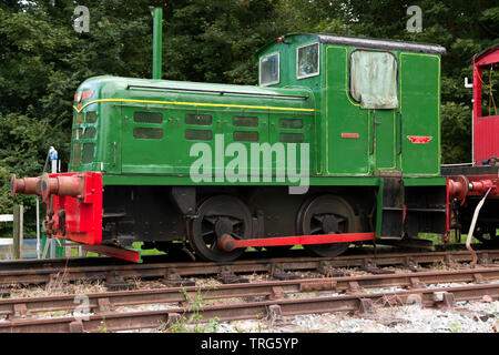 Side view of a Fowler 0-4-0DM Diesel Locomotive  'Snowdown' at the East Kent Railway Trust - Stock Image