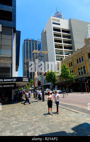 William street, Perth, Western Australia - Stock Image