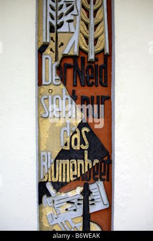 german relief poetry line - Stock Image