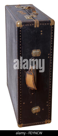 Old suitcase - wardrobe from the early 20th century. - Stock Image