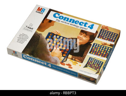 A vintage box for the game of Connect4 - Stock Image