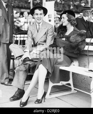 Alfred Gynne Vanderbuilt and Mrs Cornelius Vanderbilt Whitney, August 22, 1936 - Stock Image