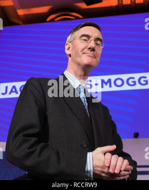'Leave Means Leave' rally held at Queen Elizabeth II Conference Centre  Featuring: Jacob Rees-Mogg Where: London, United Kingdom When: 14 Dec 2018 Credit: Wheatley/WENN - Stock Image