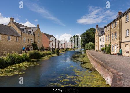 Gentrification along Stroudwater Navigation, Stroud, Gloucestershire, UK - Stock Image
