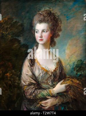 Thomas Gainsborough, The Hon. Mrs. Thomas Graham, portrait, c. 1775 - Stock Image
