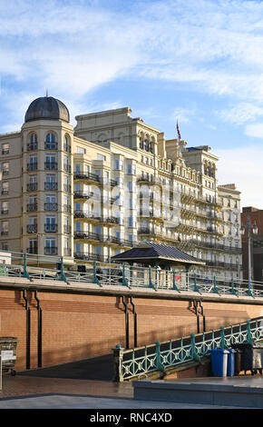 The Grand Hotel on Brighton seafront UK  Photograph taken by Simon Dack - Stock Image