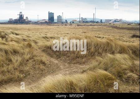 Tata Steel at Redcar, South Gare, Cleveland. - Stock Image