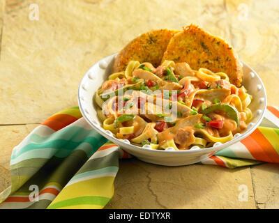 Chicken Pasta - Stock Image