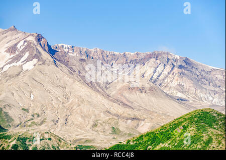 The crater in Mount St. Helens, which erupted in 1980. - Stock Image