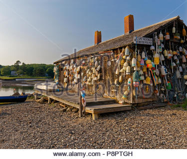 Lobster shack, York Beach, Maine, USA - Stock Image
