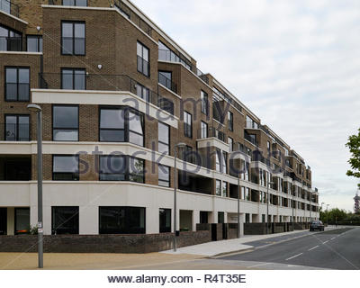 Flats in Park View Mansions at Chobham Manor overlooking the Olympic Park: Stratford, London. - Stock Image