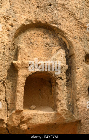 Underground burial chambers at the World Heritage UNESCO site of Tombs of the Kings, Paphos, Cyprus - Stock Image