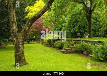 A formal garden in Friuli Venezia Giulia, north east Italy - Stock Image
