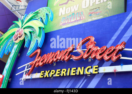 Fremont Street Experience sign, on Fremont Street, Las Vegas, Nevada. - Stock Image