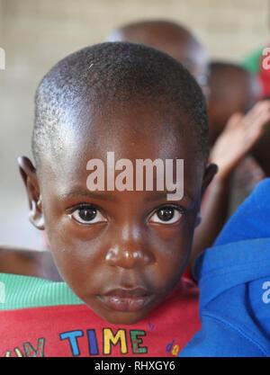 TANZANIA  -  photo by Sean Sprague 2018  Children of the kindergarrten at Bukundi. - Stock Image