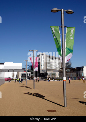 Pedestrian access to the Olympic Park Stratford London - Stock Image