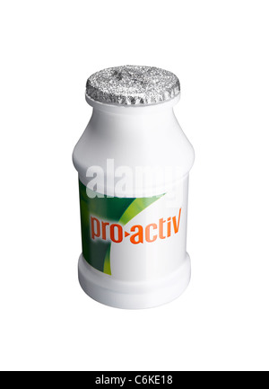 A cut out of a bottle of Flora probiotic drink - Stock Image