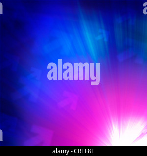 Space background with luminous light beam - Stock Image