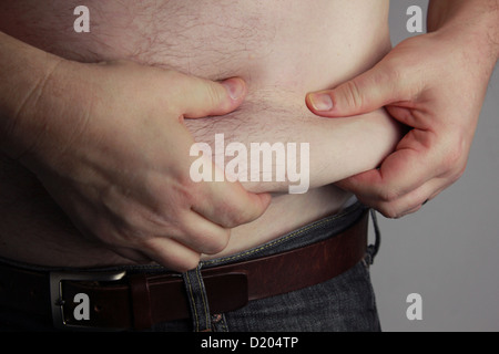 Overweight Man - Stock Image