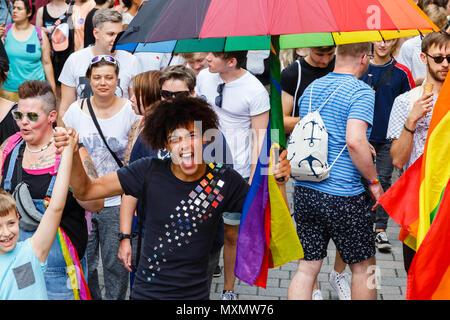 CSD in Wiesbaden, Germany. 2nd June 2018 - Stock Image