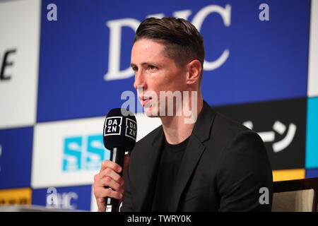 Tokyo, Japan. 23rd June, 2019. Fernando Torres (Sagan) Football/Soccer : Spanish footballer Fernando Torres attends a press conference and announces his retirement in Tokyo, Japan . Credit: YUTAKA/AFLO SPORT/Alamy Live News - Stock Image