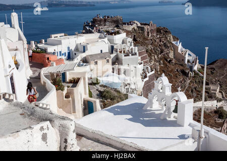 Oia Santorini Greek Islands - Stock Image