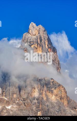 Italy, Dolomites, Trentino-Alto Adige, Trentino, mountain peak Cimon Della Pala - Stock Image