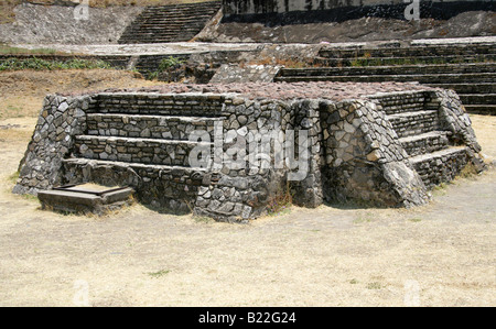 Altar con Ofrenda, the Archaeological Excavations at the Great Pyramid of Cholula, Mexico - Stock Image