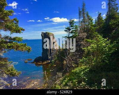 Skerwink trail in Newfoundland Canada over summer - Stock Image