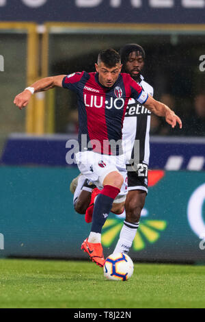 Bologna, Italy. 13th May, 2019. Blerim Dzemaili (Bologna) during the Italian 'Serie A' match between Bologna 4-1 Parma at Renato Dall Ara Stadium on May 13, 2019 in Bologna, Italy. Credit: Aflo Co. Ltd./Alamy Live News - Stock Image