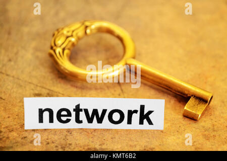 Network and key concept - Stock Image