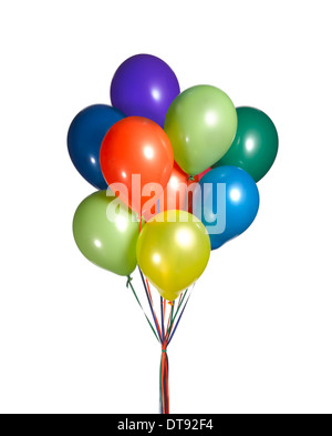 A cut out shot of a bunch of balloons. - Stock Image