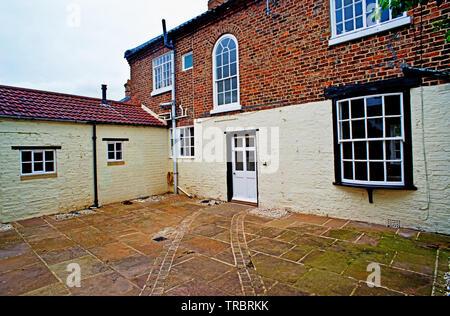 Courtyyard, Raby House, Chapel Row, Sadberge, Borough of Darlington, England - Stock Image