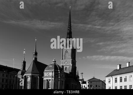 The Riddarholmskyrkan church, Riddarholmen area of Stockholm City, Sweden, Europe - Stock Image