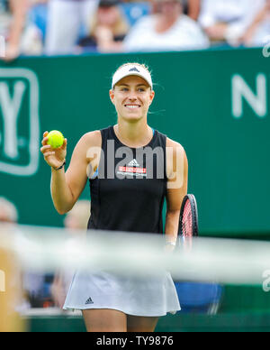 Eastbourne UK 25th June 2019 - Angelique Kerber of Germany during her match with Sam Stosur of Australia at the Nature Valley International tennis tournament held at Devonshire Park in Eastbourne . Credit : Simon Dack - Stock Image