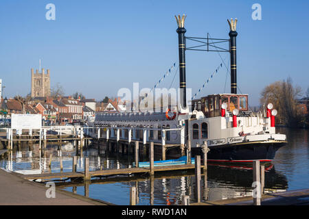 The pleasure boat 'The New Orleans' owned and managed by Hobbs Boatyard of Henley-on-Thames, Oxfordshire. - Stock Image