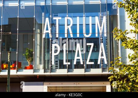 Frankfurt am Main, Germany. Atrium Plaza in the Mainzer Landstraße 178 - 190. 14th Oktober 2017. - Stock Image