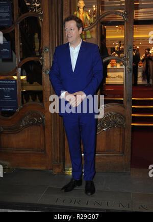 'Fortnum and Mason: Christmas and Other Winter Feasts' book launch in London  Featuring: Tom Parker Bowles Where: London, United Kingdom When: 17 Oct 2018 Credit: WENN.com - Stock Image
